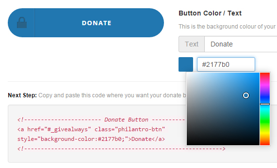 Custommize your donation buttons.